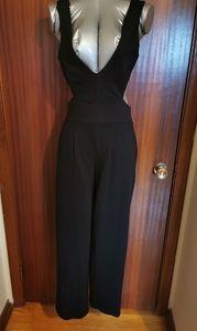 Velvet Touch Black Cut Out Jumpsuit Size Medium